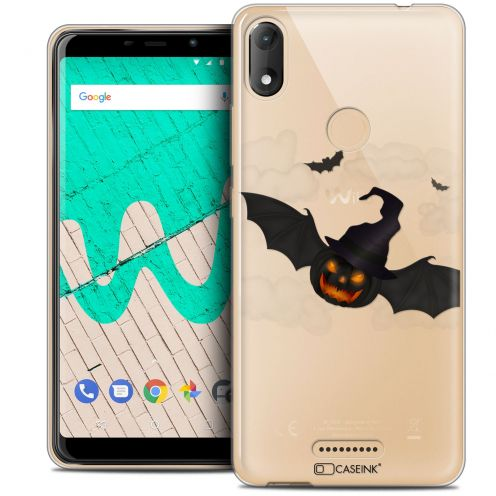"""Carcasa Crystal Gel Extra Fina Wiko View MAX (5.7"""") Halloween Chauve Citrouille"""