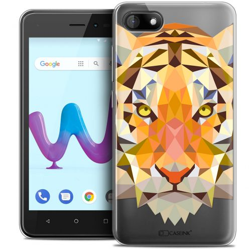 "Carcasa Crystal Gel Extra Fina Wiko Sunny 3 (5"") Polygon Animals Tigre"