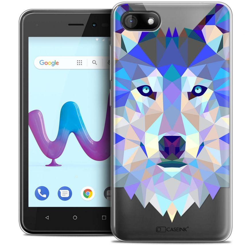 "Carcasa Crystal Gel Extra Fina Wiko Sunny 3 (5"") Polygon Animals Lobo"