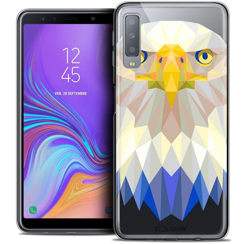 "Carcasa Crystal Gel Extra Fina Samsung Galaxy A7 (2018) A750 (6"") Polygon Animals Águila"