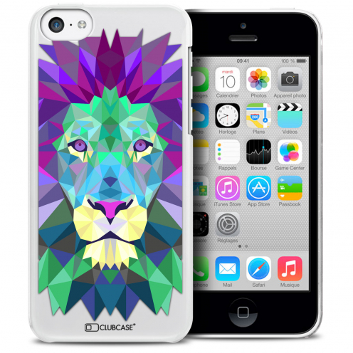 Carcasa Crystal Extra Fina iPhone 5C Polygon Animals León