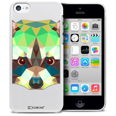 Carcasa Crystal Extra Fina iPhone 5C Polygon Animals Mapache