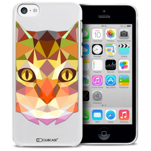 Carcasa Crystal Extra Fina iPhone 5C Polygon Animals Gato