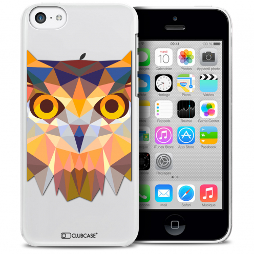 Carcasa Crystal Extra Fina iPhone 5C Polygon Animals Búho