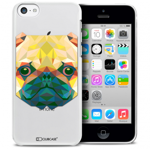 Carcasa Crystal Extra Fina iPhone 5C Polygon Animals Perro