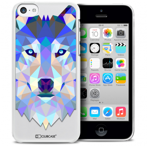 Carcasa Crystal Extra Fina iPhone 5C Polygon Animals Lobo