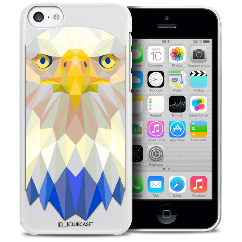 Carcasa Crystal Extra Fina iPhone 5C Polygon Animals Águila