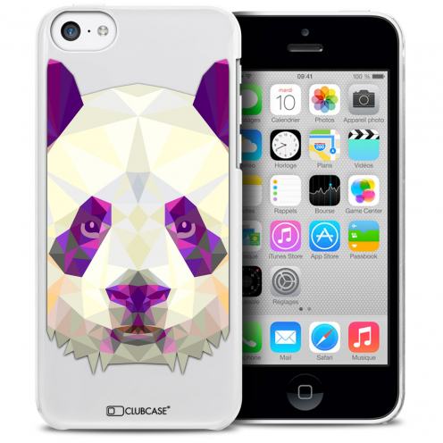 Carcasa Crystal Extra Fina iPhone 5C Polygon Animals Panda