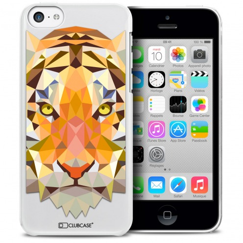Carcasa Crystal Extra Fina iPhone 5C Polygon Animals Tigre