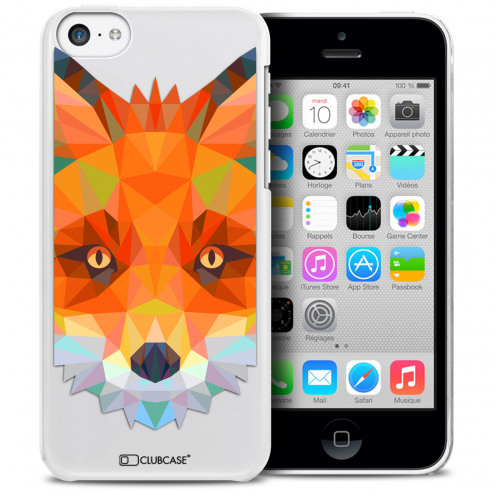 Carcasa Crystal Extra Fina iPhone 5C Polygon Animals Zorro