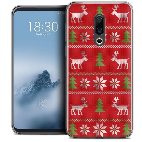"Carcasa Crystal Gel Extra Fina Meizu 16 (6"") Noël 2017 Couture Rouge"