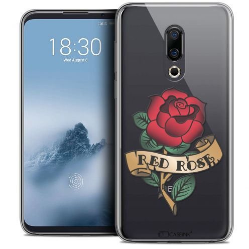 "Carcasa Crystal Gel Extra Fina Meizu 16 (6"") Tatoo Lover Red Rose"