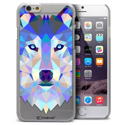 Carcasa Crystal Extra Fina iPhone 6 Polygon Animals Lobo
