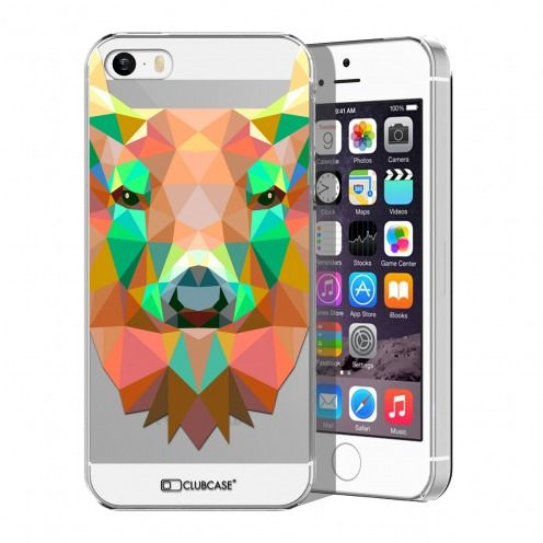 Carcasa Crystal Extra Fina iPhone 5/5S/SE Polygon Animals Ciervo