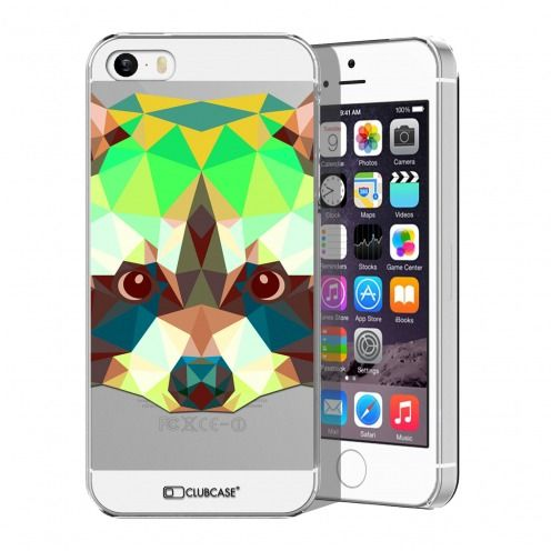 Carcasa Crystal Extra Fina iPhone 5/5S/SE Polygon Animals Mapache