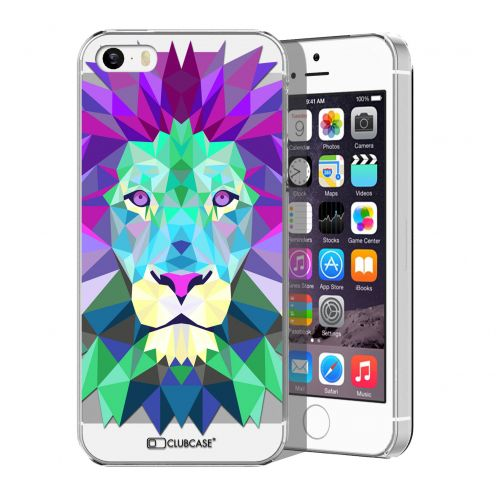 Carcasa Crystal Extra Fina iPhone 5/5S/SE Polygon Animals León