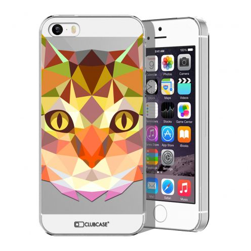 Carcasa Crystal Extra Fina iPhone 5/5S Polygon Animals Gato