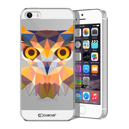 Carcasa Crystal Extra Fina iPhone 5/5S/SE Polygon Animals Búho