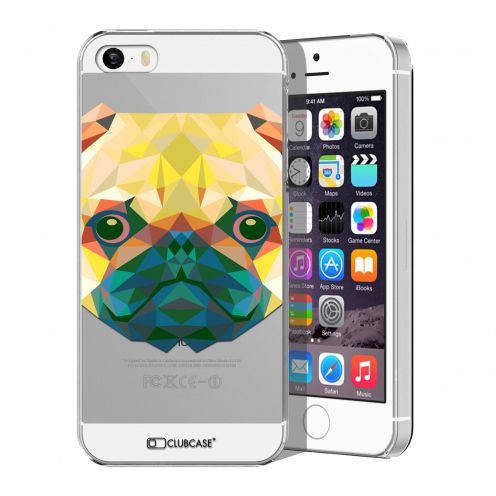 Carcasa Crystal Extra Fina iPhone 5/5S Polygon Animals Perro