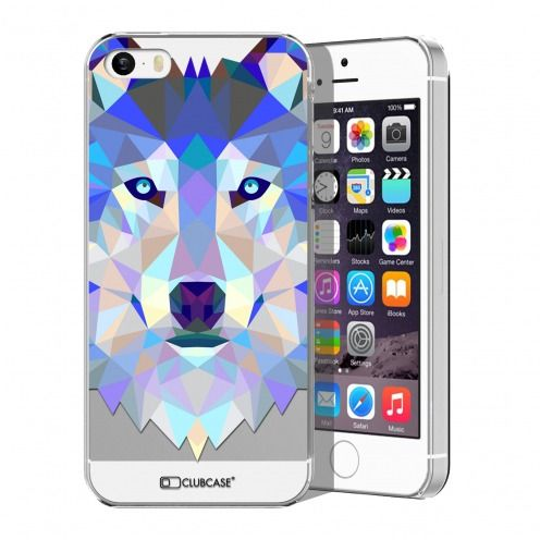Carcasa Crystal Extra Fina iPhone 5/5S Polygon Animals Lobo