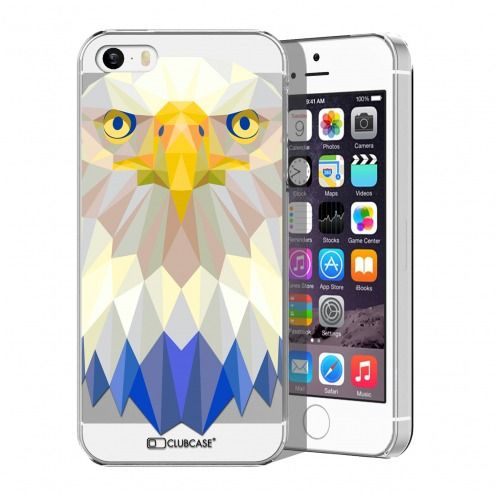 Carcasa Crystal Extra Fina iPhone 5/5S/SE Polygon Animals Águila