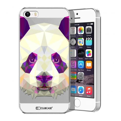 Carcasa Crystal Extra Fina iPhone 5/5S/SE Polygon Animals Panda