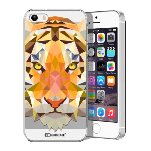 Carcasa Crystal Extra Fina iPhone 5/5S/SE Polygon Animals Tigre