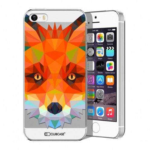 Carcasa Crystal Extra Fina iPhone 5/5S Polygon Animals Zorro