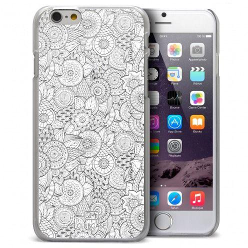 Carcasa Crystal Extra Fina iPhone 6 Plus Colección Encaje de Flores - Blanco