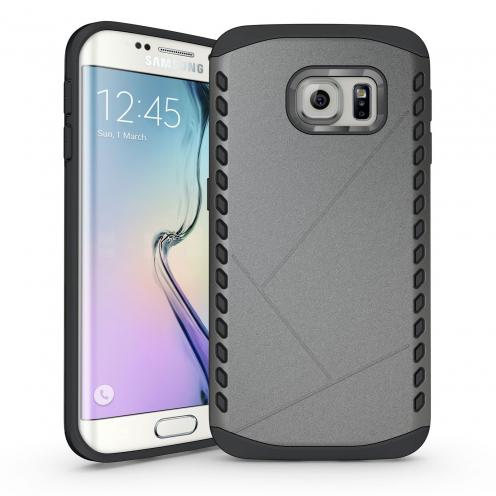 Funda Anti-Golpes Galaxy S6 Edge Slim Shield Defender - Antracita