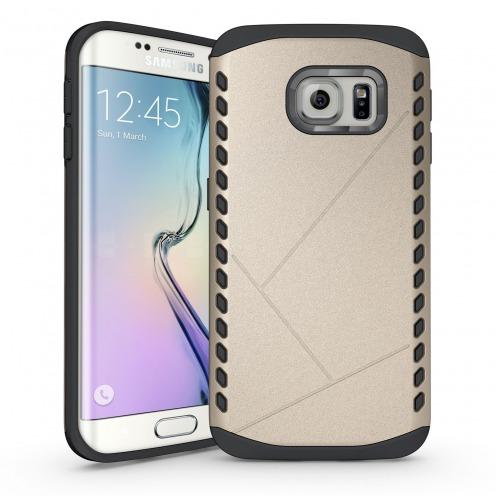 Funda Anti-Golpes Galaxy S6 Edge Slim Shield Defender - Champán