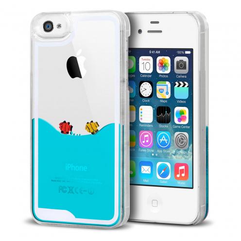 Carcasa Crystal Liquid Mar y Peces iPhone 4/4S