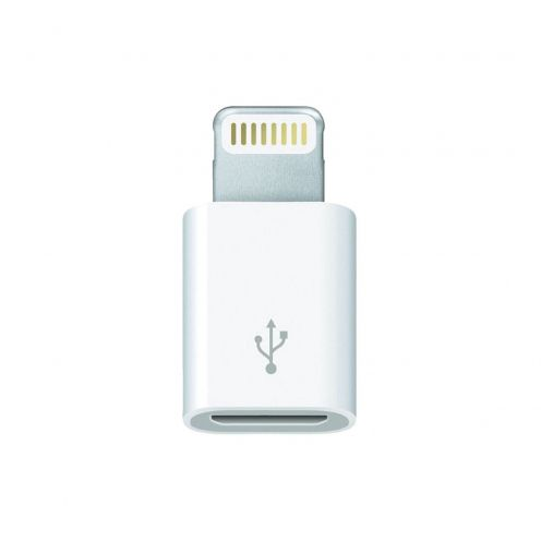 Adaptador micro USB a Lightning 8 pines Genuina Apple MD820ZM/A - iPhone 6 / 5 / S / C - iPad Mini - iPad Retina