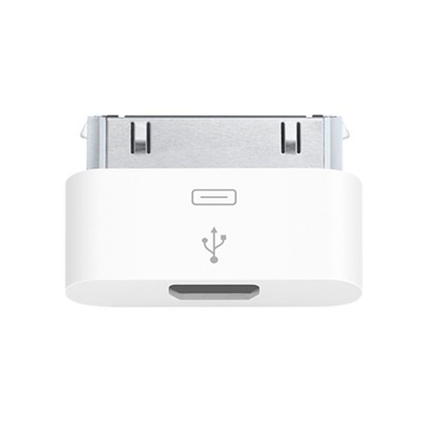 Adaptador micro USB a 30 pins Genuina Apple MD099 - iPhone 3 / 4 / 4S - iPad