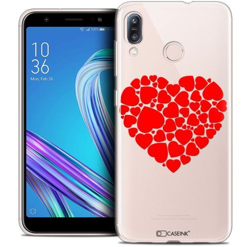 "Carcasa Crystal Gel Extra Fina Asus Zenfone Max (M1) ZB555KL (5.5"") Love Coeur des Coeurs"