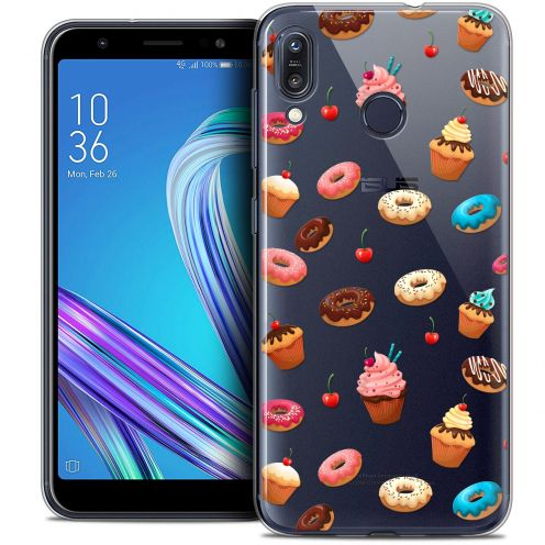 """Carcasa Crystal Gel Extra Fina Asus Zenfone Max (M1) ZB555KL (5.5"""") Foodie Donuts"""