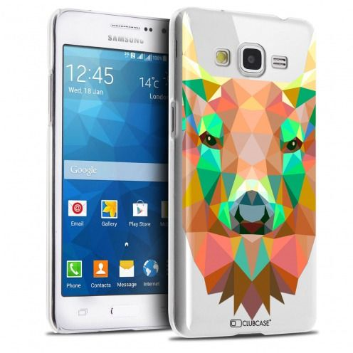 Carcasa Crystal Extra Fina Galaxy Grand Prime Polygon Animals Ciervo