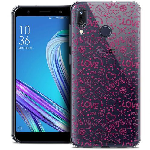 "Carcasa Crystal Gel Extra Fina Asus Zenfone Max (M1) ZB555KL (5.5"") Love Doodle"