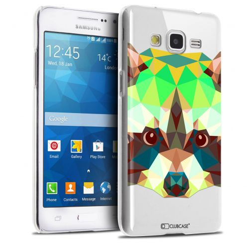 Carcasa Crystal Extra Fina Galaxy Grand Prime Polygon Animals Mapache