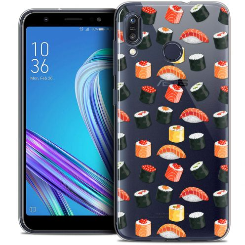"Carcasa Crystal Gel Extra Fina Asus Zenfone Max (M1) ZB555KL (5.5"") Foodie Sushi"