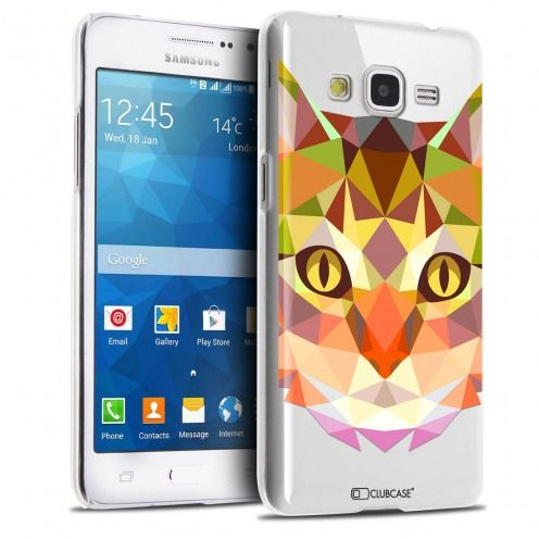 Carcasa Crystal Extra Fina Galaxy Grand Prime Polygon Animals Gato