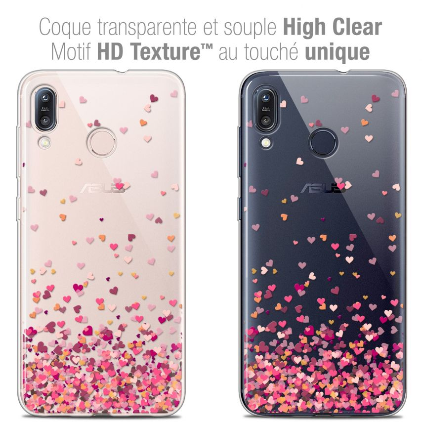 """Carcasa Crystal Gel Extra Fina Asus Zenfone Max (M1) ZB555KL (5.5"""") Sweetie Heart Flakes"""