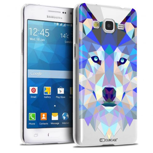 Carcasa Crystal Extra Fina Galaxy Grand Prime Polygon Animals Lobo