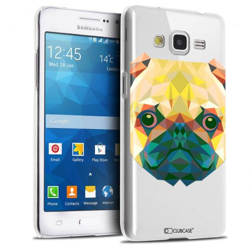 Carcasa Crystal Extra Fina Galaxy Grand Prime Polygon Animals Perro