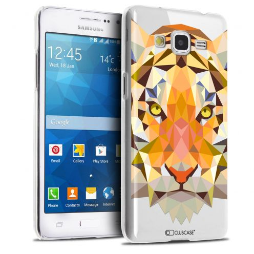 Carcasa Crystal Extra Fina Galaxy Grand Prime Polygon Animals Tigre