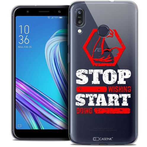 "Carcasa Crystal Gel Extra Fina Asus Zenfone Max (M1) ZB555KL (5.5"") Quote Start Doing"