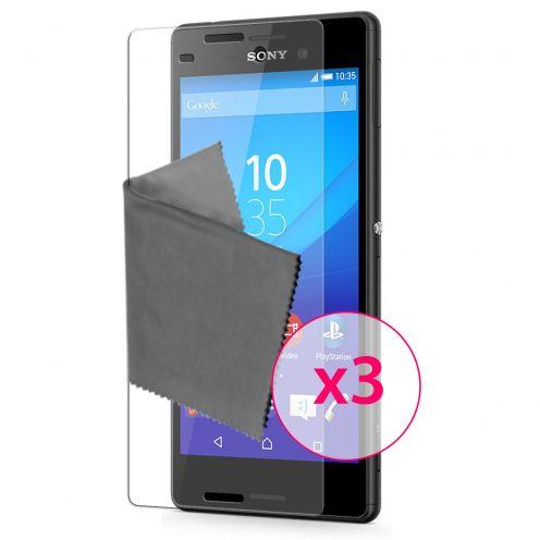 Protector De Pantalla Sony Xperia M4 Aqua Clubcase® 3H Ultra Clear HD Lote de 3