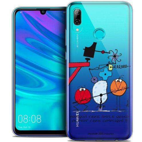 """Carcasa Crystal Gel Extra Fina Huawei P Smart 2019 (6.21"""") Les Shadoks® Pourquoi faire Simple"""