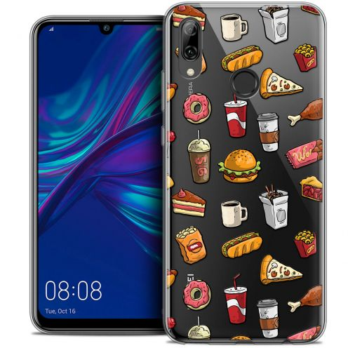 """Carcasa Crystal Gel Extra Fina Huawei P Smart 2019 (6.21"""") Foodie Fast Food"""