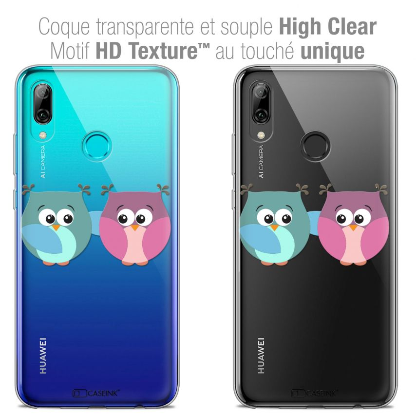 "Carcasa Crystal Gel Extra Fina Huawei P Smart 2019 (6.21"") Love Hibous à deux"